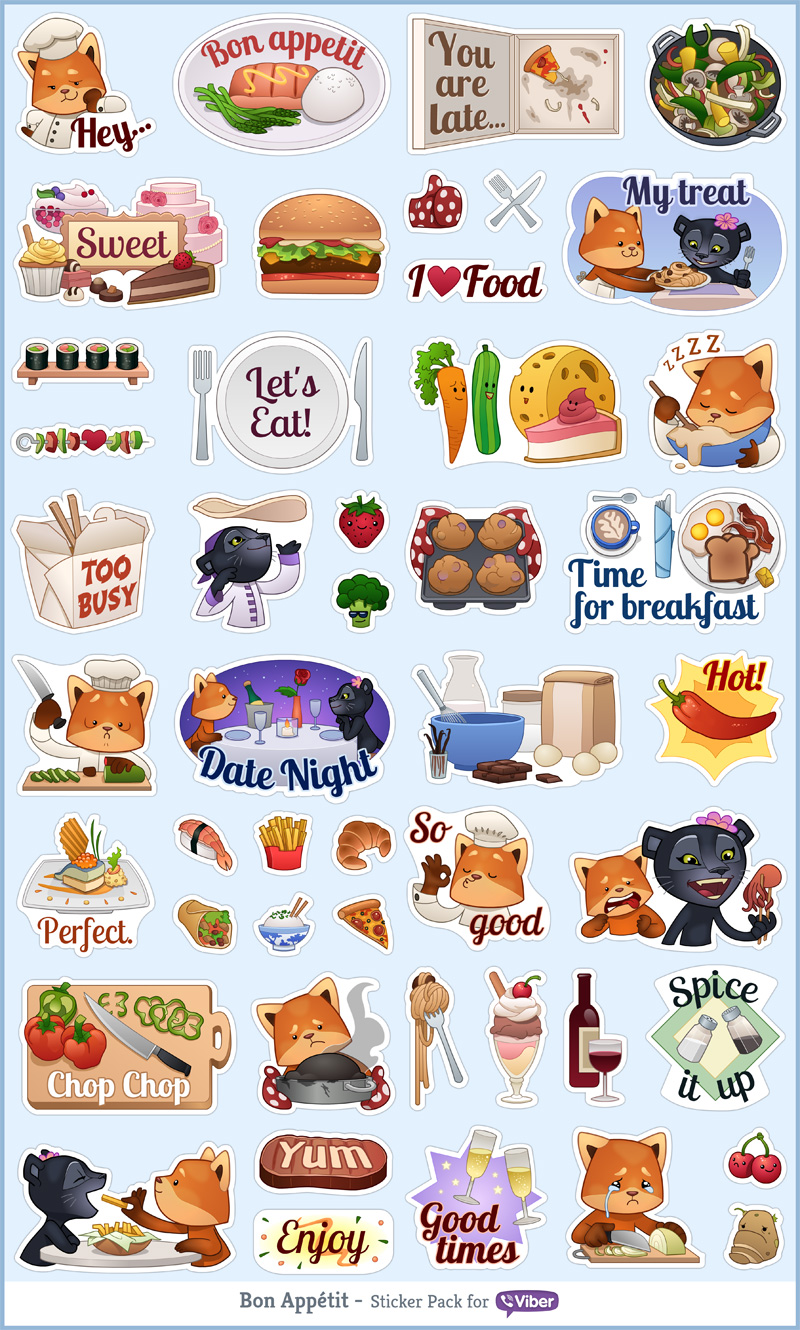 Viber - Bon Appetit Sticker Pack