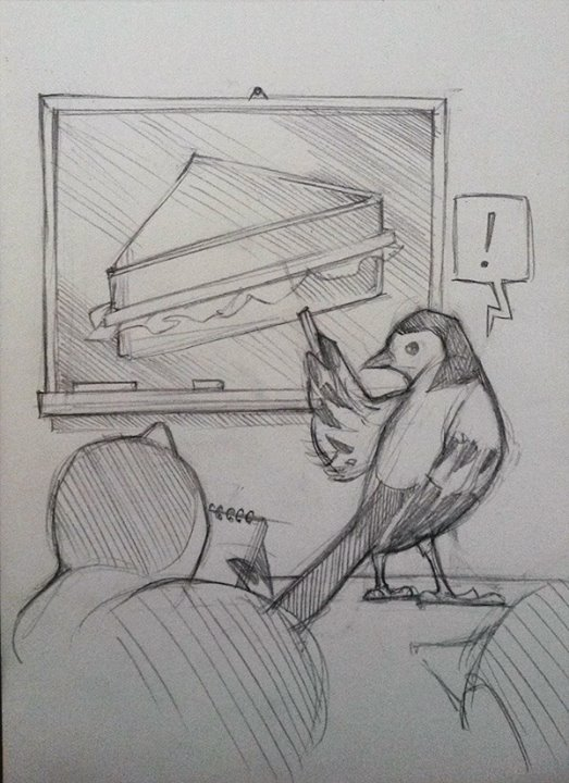 Daily Speed Sketch: Wagtail School