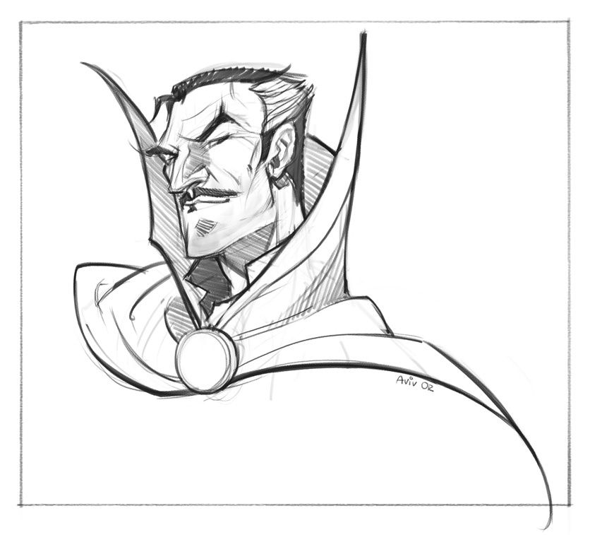 Sketch Dailies 29/08: Dr. Strange