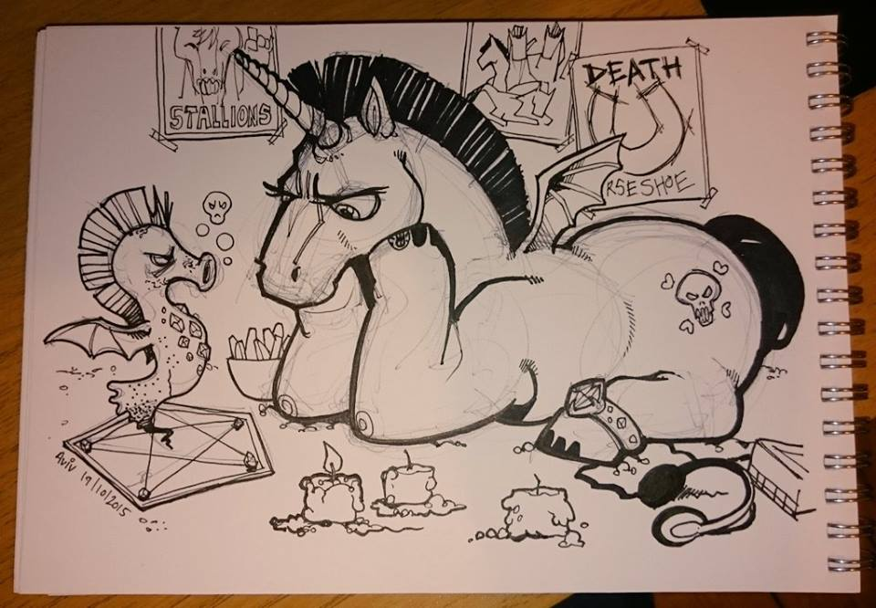 Inktober 19: Audience-Participation Pony