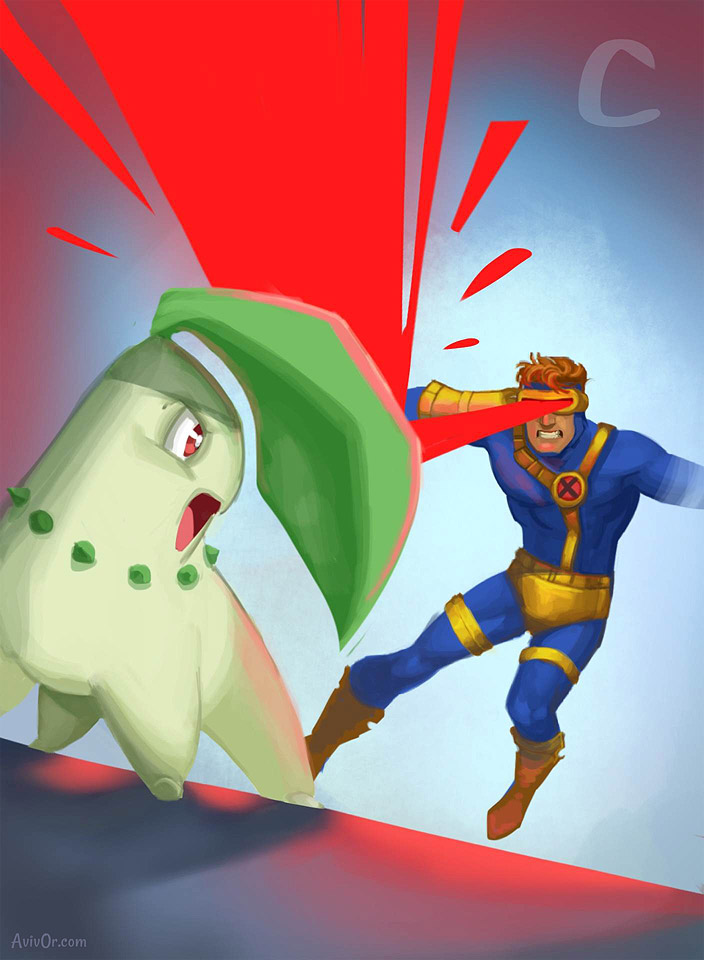 ABCharacters: C for Cyclops and Chikorita
