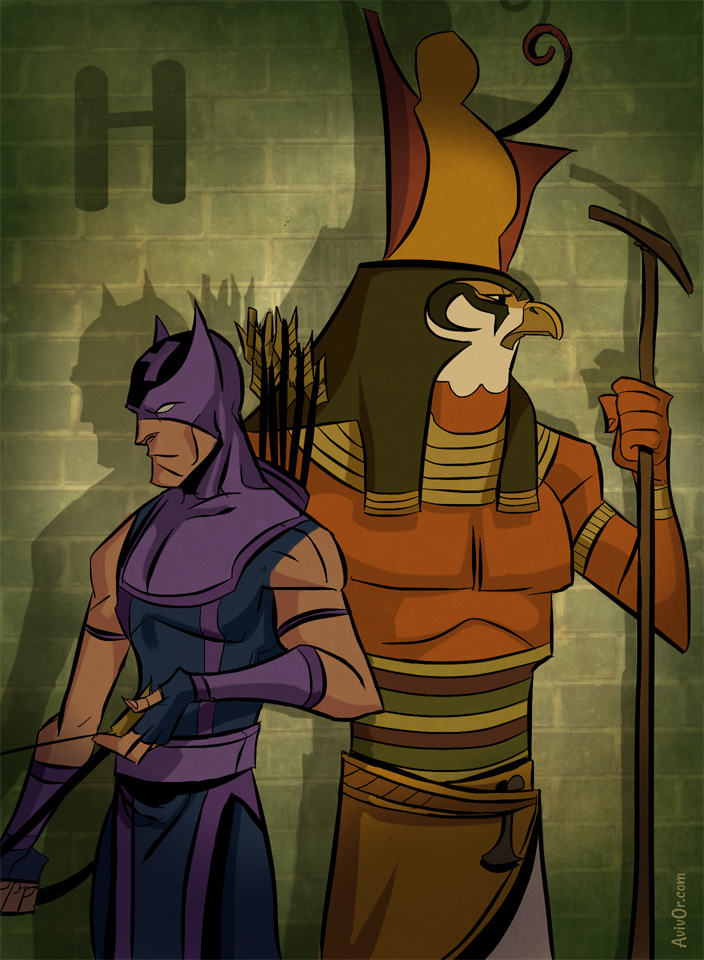 ABCharacters: H for Horus and Hawkeye