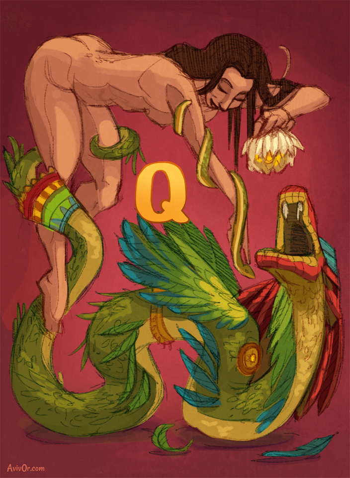 ABCharacters: Q for Quetzalcoatl and Qetesh