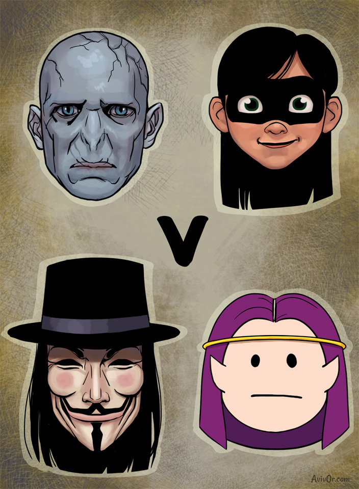 V for Voldemort, Violet, Vaarsuvius and V