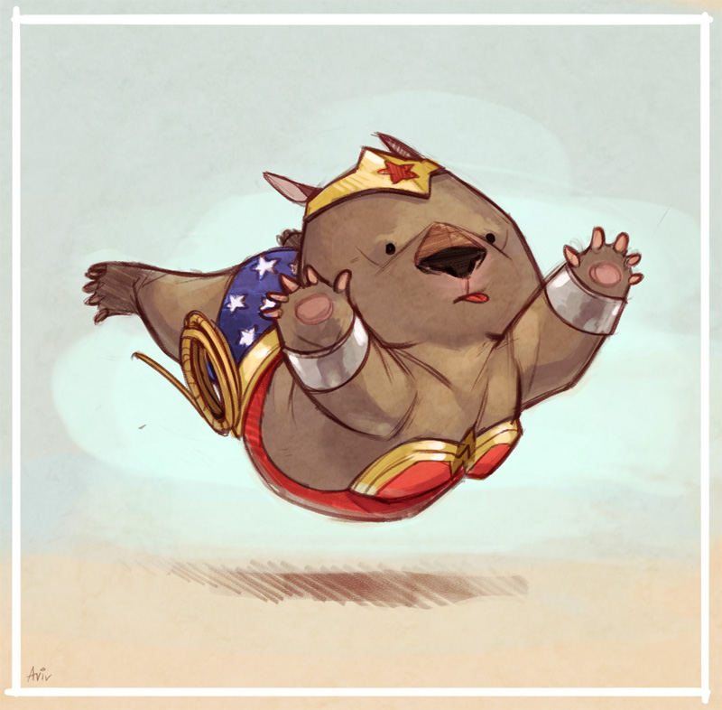 Sketch Dailies: Wonder Wombat