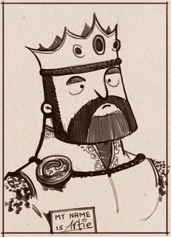 Sketch Dailies: King Arthur
